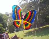 Handmade Green Butterfly Suncatcher with multi colors
