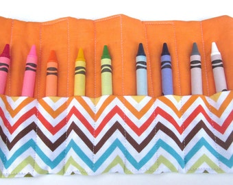 Little boys and girls crayon roll-up.