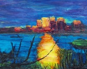 Landscape abstract original :Sunbeam Elliot Bay