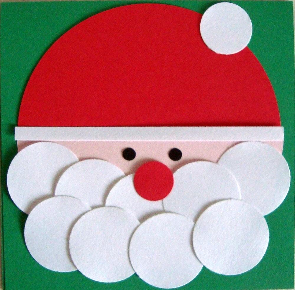 Diy christmas card kit santa for Make your own homemade christmas cards