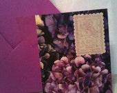 purple hydrangea card