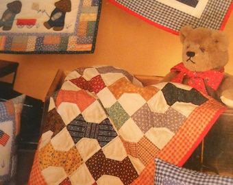 Quilt Pattern   Overall Bill and his Toys of  Boats and Wagons Kites and Blocks
