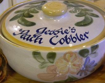 Peach Cobbler Stoneware Dish