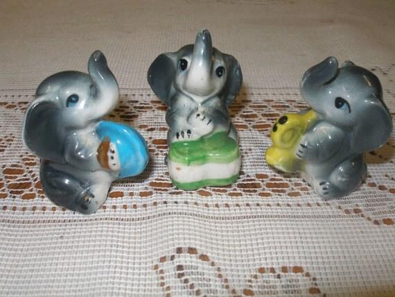 Sale -Miniture Elephant Figurines Band Set