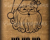 Vintage Santa Printable Iron on Transfer Digital Download No 238