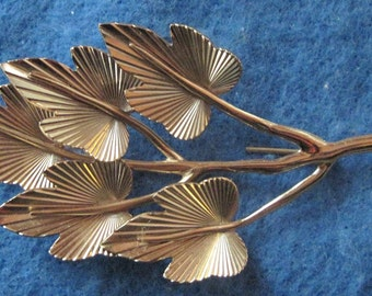 Vintage Napier Sterling Silver Leaves Brooch Pin Jewelry