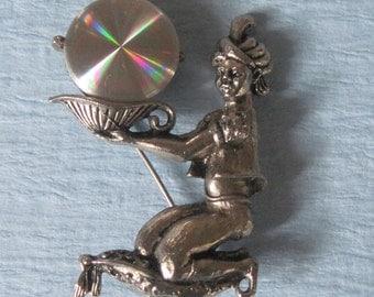Genie Brooch Genie Holograph Brooch By  Jewlerama