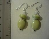CLEARANCE - Pistachio-Green Bead Drop Earrings