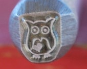 Now Here-Exclusive to Me- LARGE 3/8 Owl- Metal Design Stamp-New 8 mm-Metal Stamping Supplies for Personalized Jewelry
