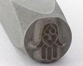 Hamsa Metal Design Stamp-Measures approx 6mm -Hand of Fatima/Miriam- Metal Design Stamp-Metal Stamping Supplies