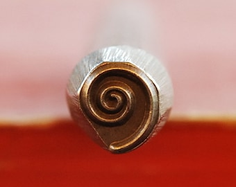 LARGE  3/8 Spiral Design Stamp-New 8 mm-Metal Stamping Supplies for Personalized Jewelry