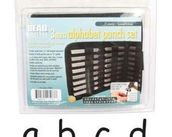 3 mm- Lowercase Comic Font Alphabet Metal Stamp Set-Metal Stamps-Jewelry Stamping Supplies