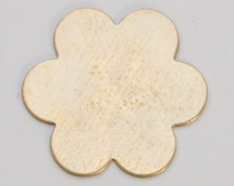 """Brass Flower Blank 24ga- 7/8"""" 6 PETAL FLOWER- PK/6-Great for your Jewelry Stamping Needs-Stamping Blanks for Personalized Jewelry"""