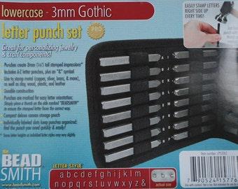 Metal Stamp Set-Metal Stamping Kit 3mm (1/8th ) Lowercase Gothic Font Metal Alphabet Set-Jewelry Stamping Tools/Metal Stamping Tool