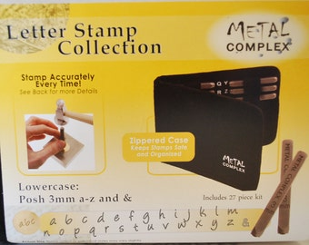 Metal Stamp Alphabet Set-Posh Font in Lowercase-Alphabet Set-Metal Stamping Kit-Also known as Bridgette/Angelina-Metal Supply Chick