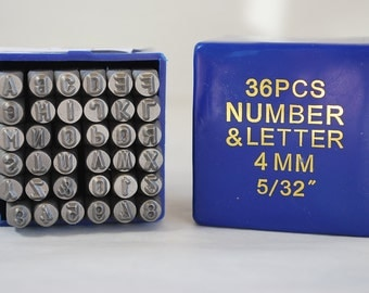New-Arial Font- 4mm  Letters and Number Set-Metal Stamp Set-Great Inexpensive Tool for Your Shop and Stamping Needs