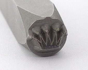 Metal Stamp-Crown Design Stamp-Measures approx 6mm-Design Stamp-Metal Stamping Supplies by Metal Supply Chick