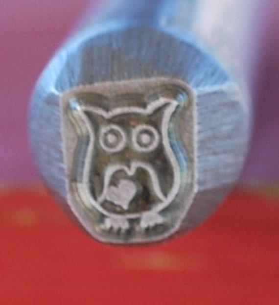 NEW Exclusive to Me- LARGE 3/8 Owl- Metal Design Stamp-New 8 mm-Metal Stamping Supplies for Personalized Jewelry