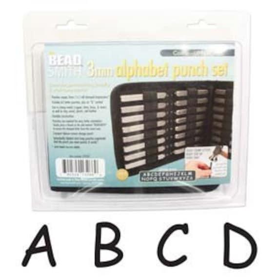 "Metal Stamping Set-Metal Stamp Set in""Comic Sans"" font 3mm-Uppercase Font Alphabet Punch Set-Metal Supply Chick Stamping Supplies"