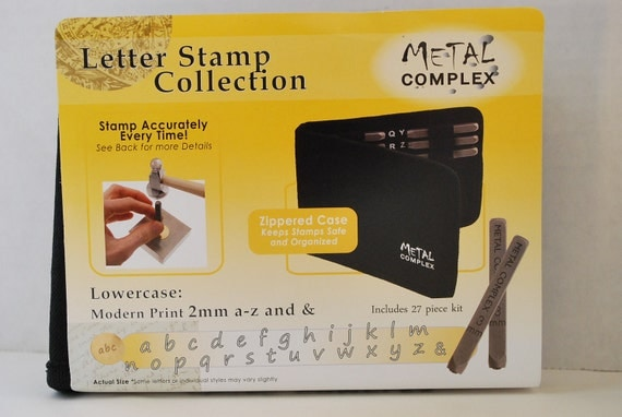 2mm-Lowercase Modern/Handwritten  Print Font Alphabet Letter Stamp Set-Metal Stamps-Metal Supply Chick