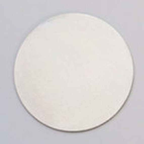 "Stamping Blank-Nickel Silver- 24ga- 1 1/4"" CIRCLE- PK/6--Stamping Blanks for Personalized Jewelry"