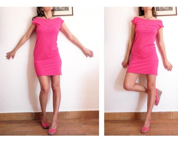 Summer SALE - Hot Pink Candy dress