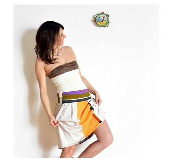 Barcelona Sun strapless dress