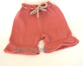 Sale Pink Bloomers Wool Diaper Covers Ready to Ship