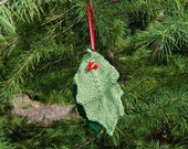 Hand Knitted Christmas Tree Ornament