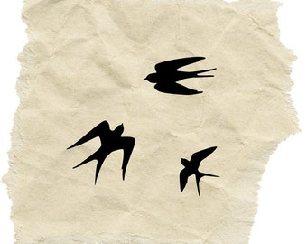 Three Swallows Stamp