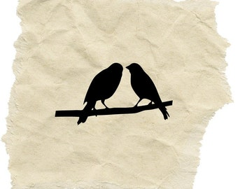 A Pair of Birds Stamp