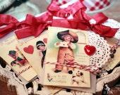 Vintage Valentine Treat Pocket Tags 5