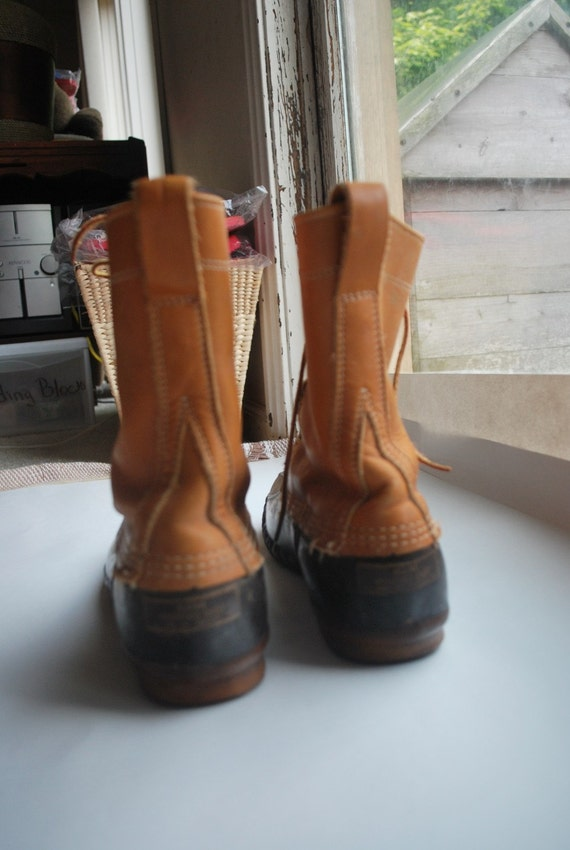 Vintage Ll Bean Maine Hunting Shoes High Ankle Duck Boots