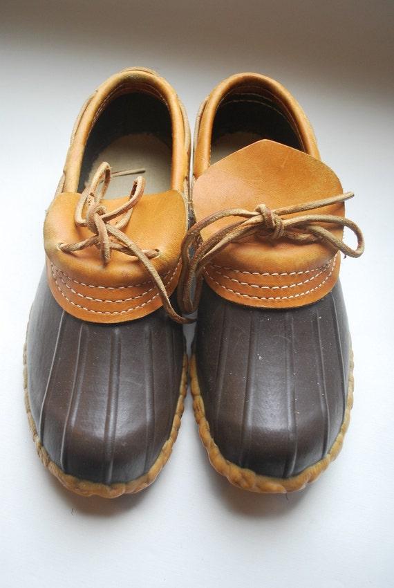Short Ankle Duck Boots Ll Bean Vintage Preppy Staples 1970s