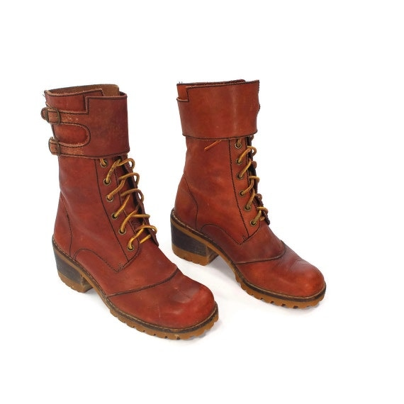 fashion paratroopers vintage jump boots in apple spice
