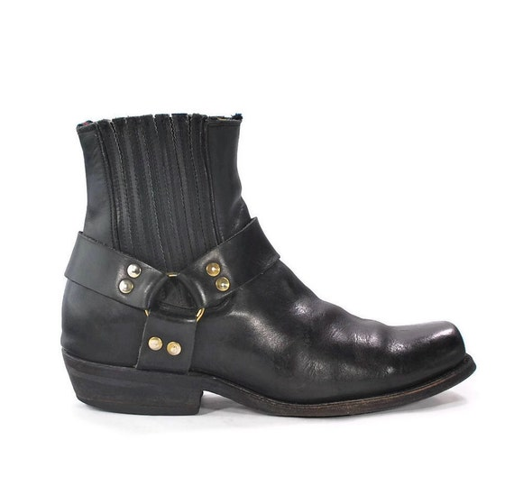 The 90s Are Back: Authentic Original NaNa LA Harness Boots. Short but Not on Style. Hot Iconic Truncated Biker Boots. - Mens size 10