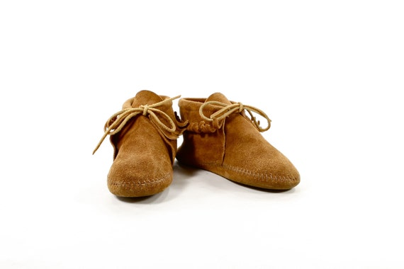 Take Your Kid to Work Day: Vintage Minnetonka Moccasin Booties for WIllie Nelson Fan Club President in training - Boys and Girls size 1