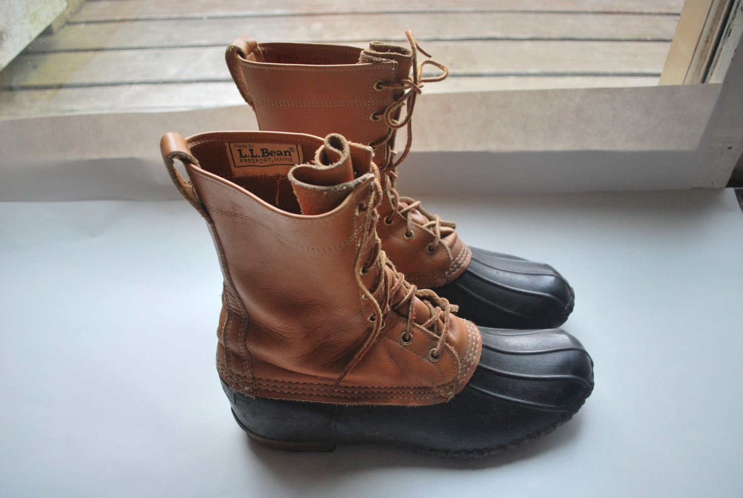 Fantastic L.L. Bean Maine Hunting Shoe Duck Boots / Rain Boots Women