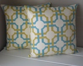 FREE SHIPPING: 1 Pair of Geometrical Pillow Covers.