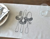 Portrait of Silverware - set of 6 placemats
