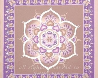 MAJESTIC - Art - Original Mandala ~ Deep gallery frame - Wrapped canvas
