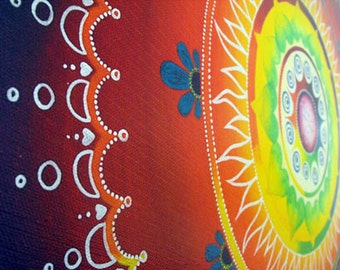 FULL MOON ~ Limited edition ~ Deep gallery wraped canvas ~ Home decor ~ Rainbow Mandala