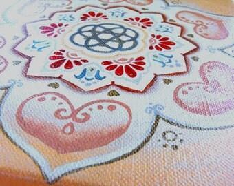 FLOWER of the HEART ~ Giclee print ~ Home decor ~ Tribal art