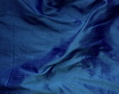 dupioni silk fabric -indigo military green iridescent 100% pure silk - fat quarter - sld074
