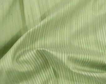 Silk Dupioni - green striped fat quarter - sld021