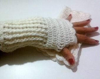 CLEARANCE SALE! Crochet Fingerless Gloves  Fingerless Mittens Armwarmer Women Fashion Accessories Gift For Her Free Shipment