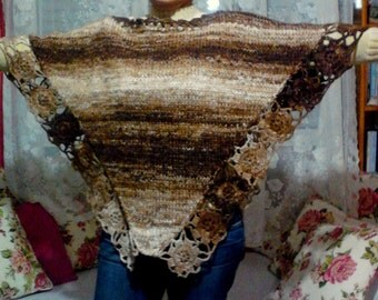 CLEARANCE SALE! Knit Chunky Poncho Big Poncho Sweater Knit Cape Wool Blend Oversozed Size Poncho Women Fashion Accessories  Free Shipment