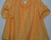 Sunny yellow peasant top, toddlers 18-24 months