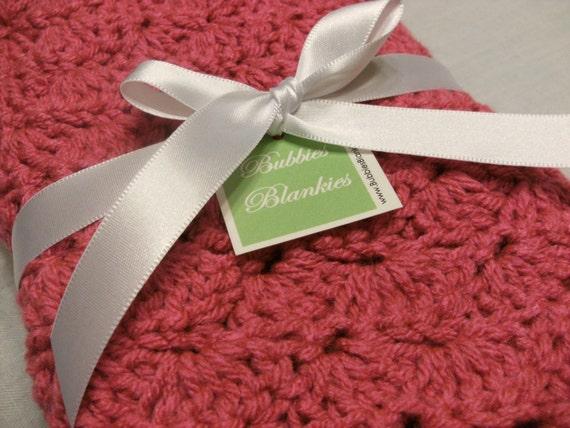 Custom Lovey Sized Blanket for Kristy - Rose Pink