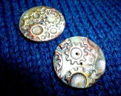 Steampunk polymer clay buttons
